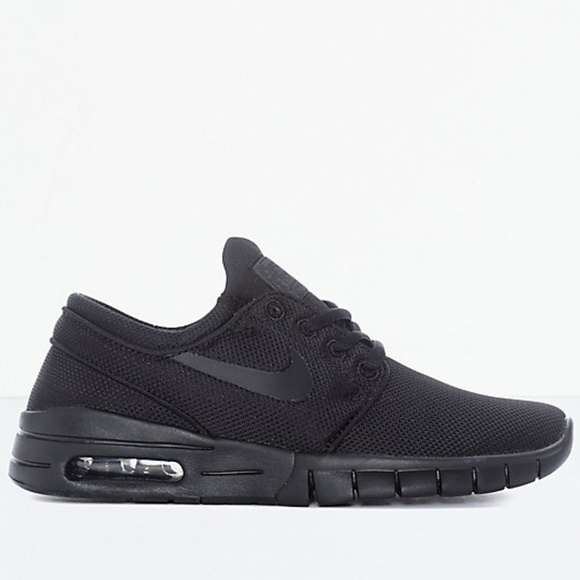 abfbb1fbb7 Nike SB Janoski Air Max All Black Skate Shoes. M_5bdb8f99a5d7c603a89c95ff